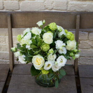 Simple Whites and Greens in a Vase GALLERY