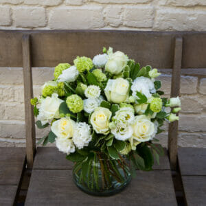 Simple Whites and Greens in a Vase MAIN